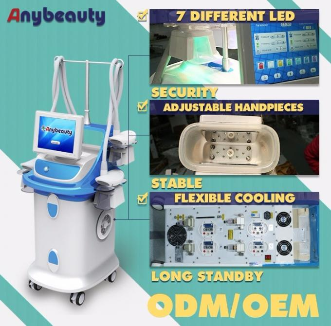 "10.4"" Large Color Touch Screen Laser Beauty Machine Cryolipolysis Slim Machine with 4 handles"